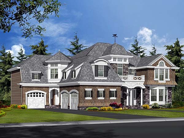 House Plan 87598 Colonial European Luxury Tudor Victorian | Pins ...