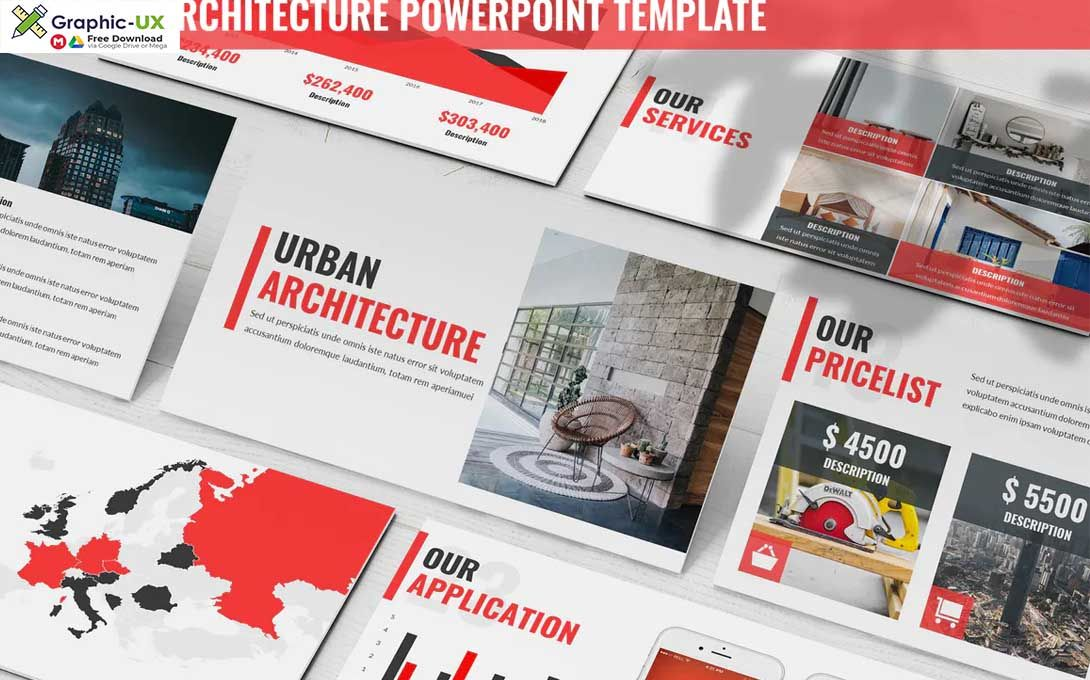 Urban Architecture Powerpoint Template GraphicUX in