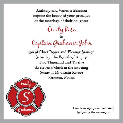 wedding invitations - Firefighter Wedding by branovy creative Fire - fresh invitation card to chief guest