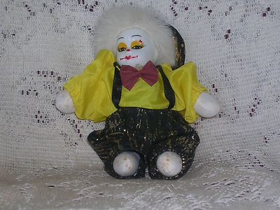 Old Vintage Porcelain Clown Doll - Approx  7 Tall on eBay