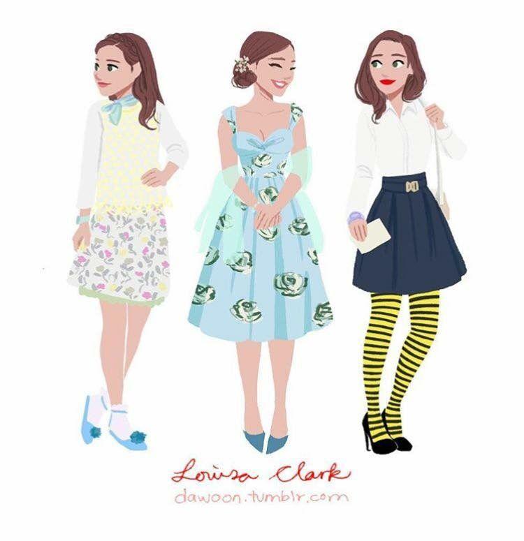 Lou Clark Yo Antes De Ti Jojo Moyes Quirky Fashion Louisa Outfit Inspirations
