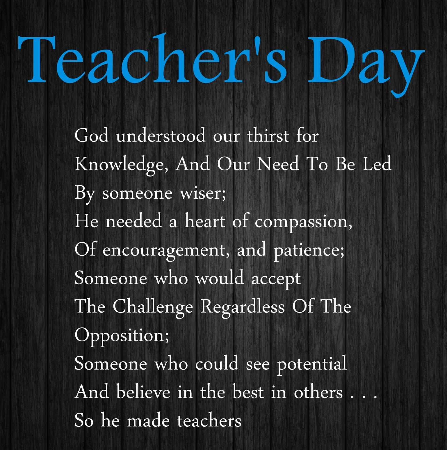 Poems to the day of the teacher for elementary school 7