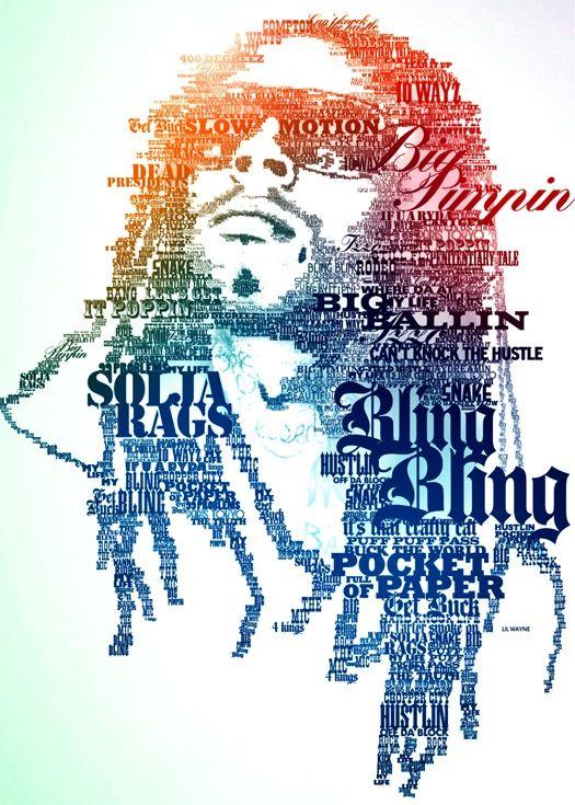 Lil Wayne Tipography typography-art