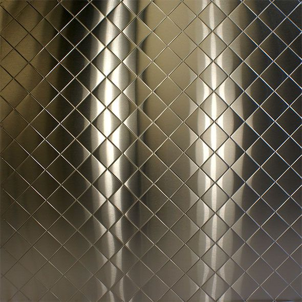 Stainless Supply Stainless Steel Embossed Pattern Diamond Quilted Stainless Steel Sheet Stainless Backsplash Stainless Steel Backsplash