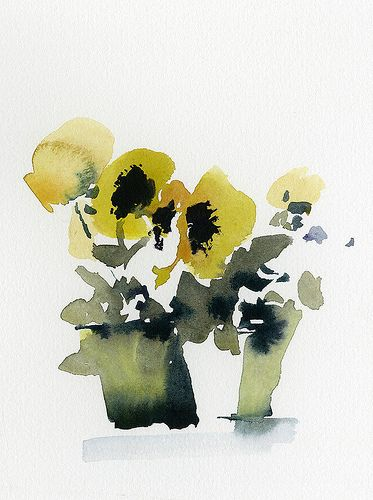 Pansies Watercolor 7 X 8 Inches Class Demo Watercolor Flowers