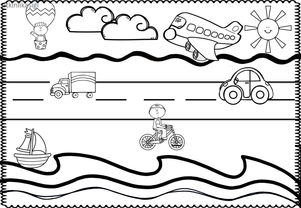Taşıtlarla Ilgili Boyama Taşıtlar Pinterest Preschool School