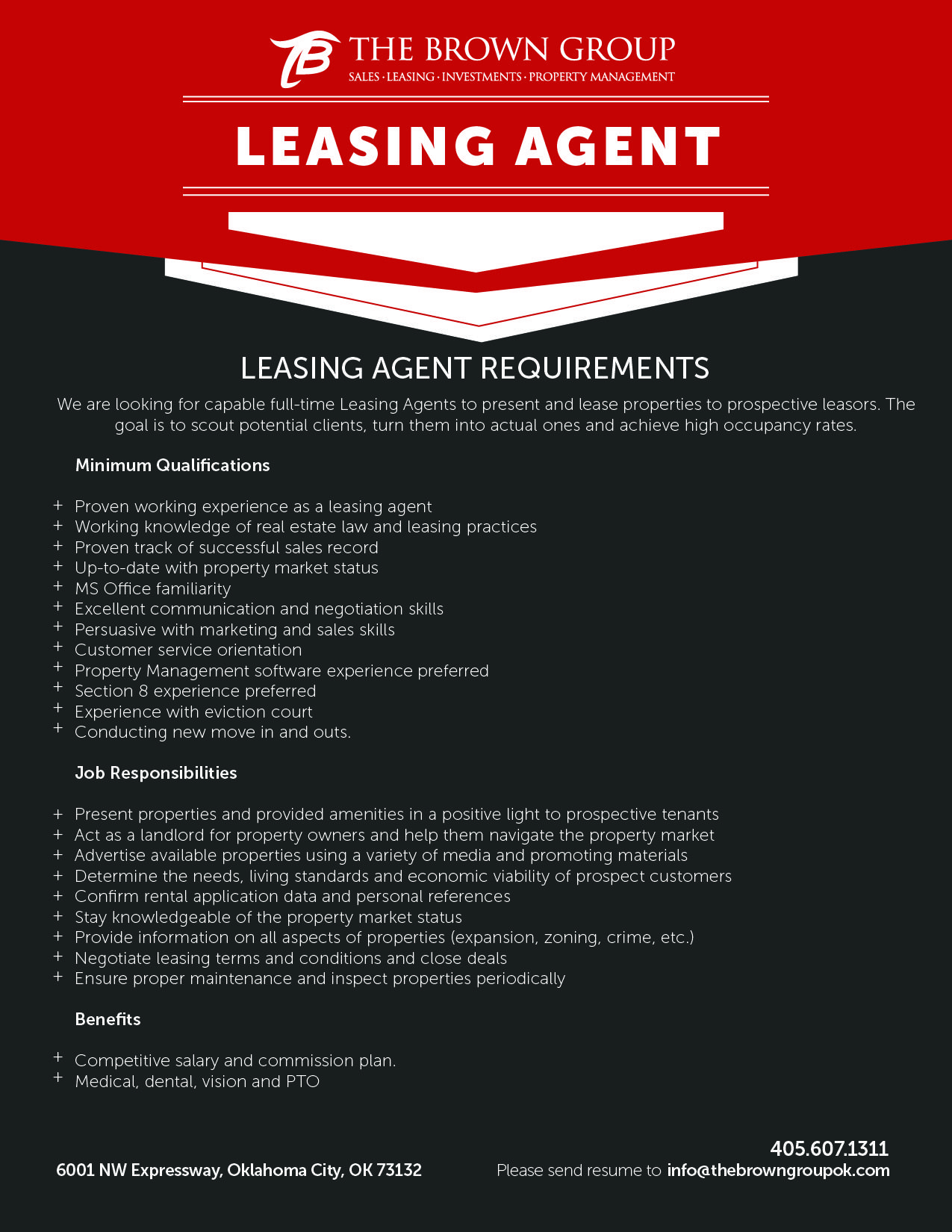 Searching For 2 Knowledgable Leasing Agents To Help Us Lease Our