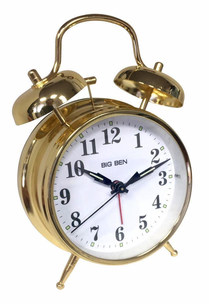 Westclox 70010g Twin Bell Analog Alarm Clock With Gold Finish