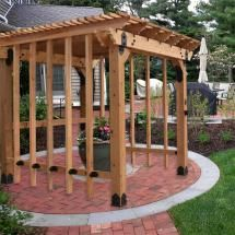 X Patio Pergola Featuring The Post Base Kit, Post To Beam Bolt Bracket,  Rafter Clips, Laredo Sunset Flush Inside Tie Plate, And Timber Bolts By  OZCO ...