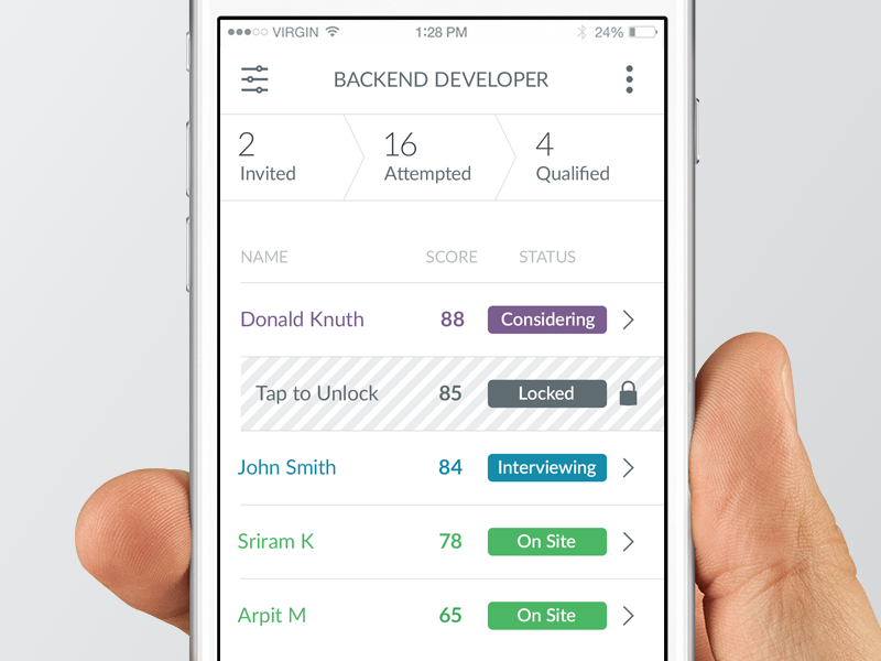 Hacker Rank / Mobile Funnel | Apps | Mobile ui, App, Web design