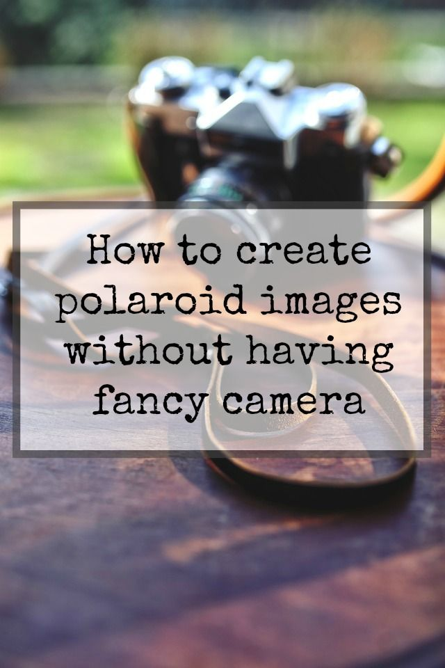 Create polaroid effect images without having fancy camera Image - polaroid template