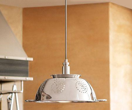 Original lámpara de cocina, con colador de pastas en imanualidades ...