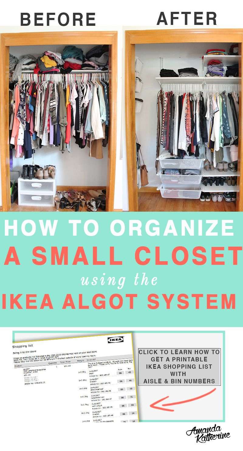 How To Organize A Small Closet For Maximum Storage Space | Pinterest | Ikea  Algot, Small Closets And Organizing