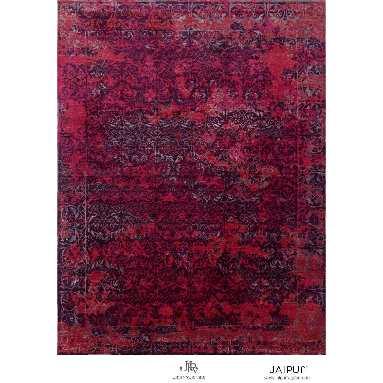 Jaipur Hand Knotted Italian Plum/Deep Claret Contemporary Pattern Rug