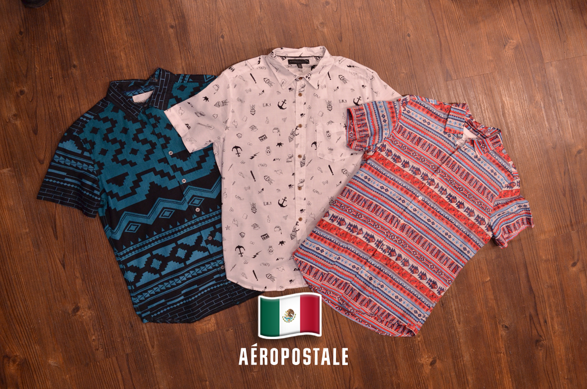 Camisas Aéropostale para hombre   México   Verde Blanco Rojo