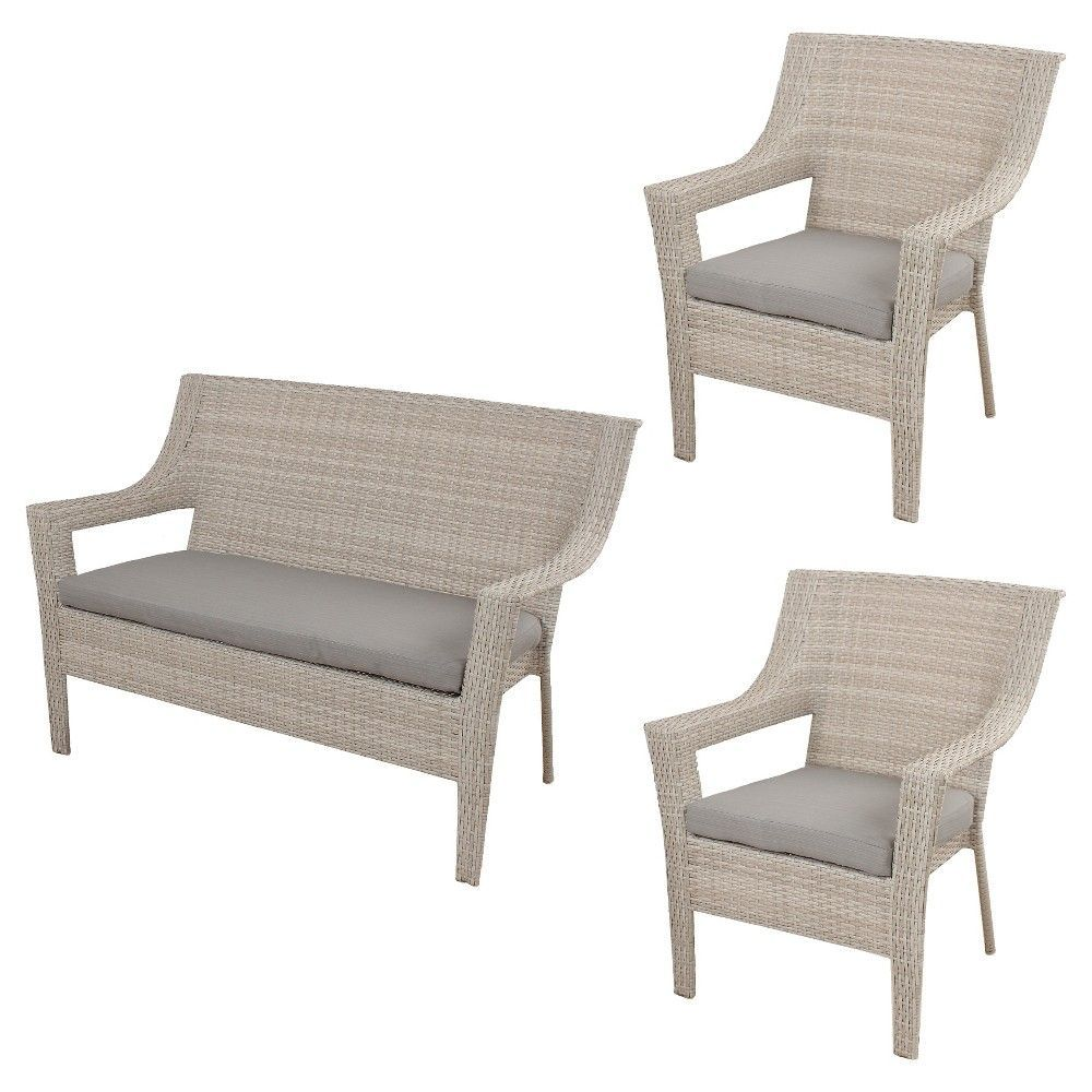 Southcrest Wicker Stacking Patio Set Gray Threshold Pallet