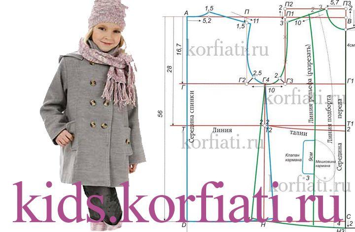 Модели и выкройки для детских пальто