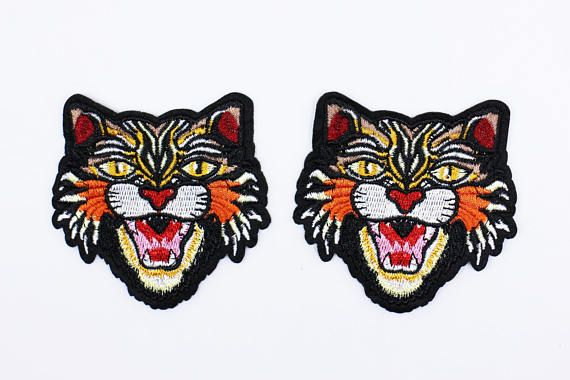 6b5f87ff236 Gucci Style Tiger Iron On Patch 2 Pieces Small Tigers