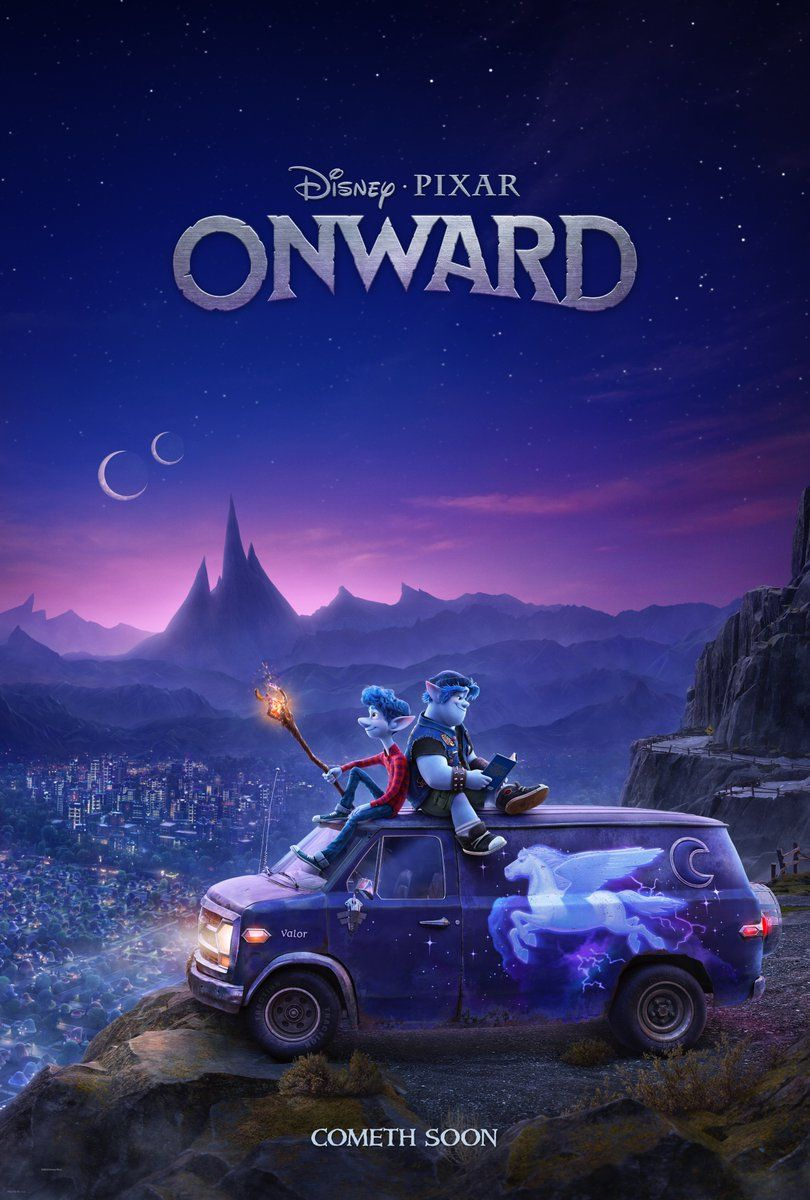 Onward poster First look at the new fantasyadventure