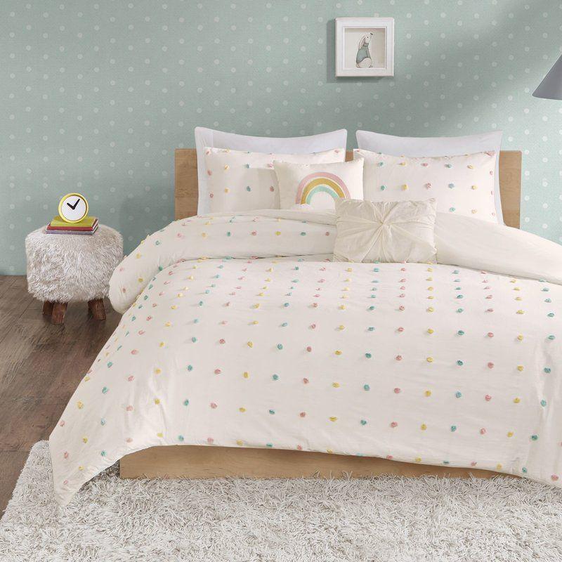 Littlehampt Cotton Jacquard Pom Pom Comforter Set Reviews Joss