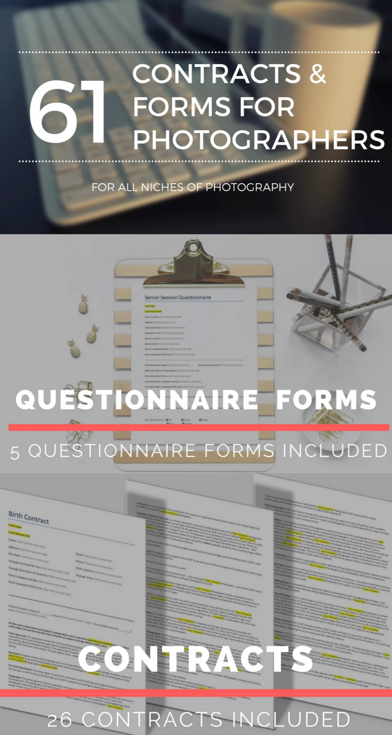 61 Photography Contracts and Forms Photography contract