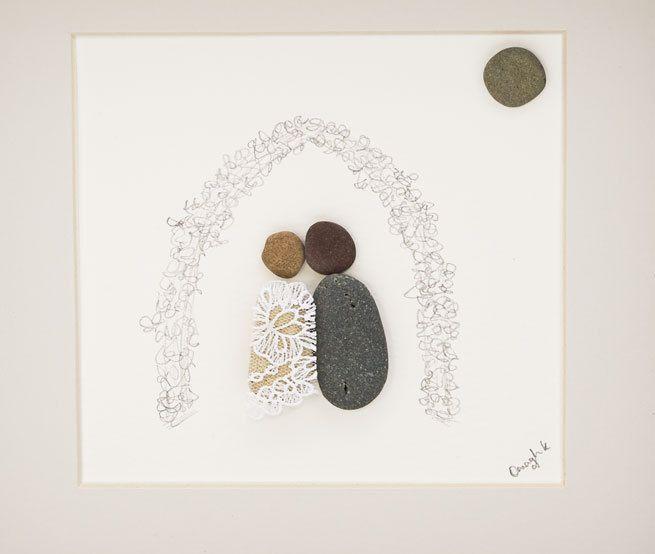 Irish Pebble Art / Stone Art Framed Picture