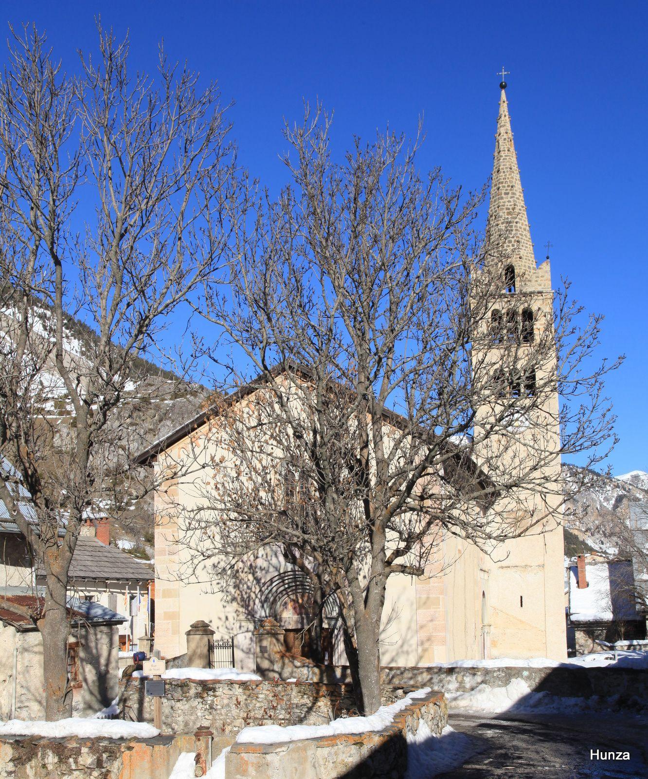 Nevache Eglise Saint Marcellin Voyage En France Hiver Vallee