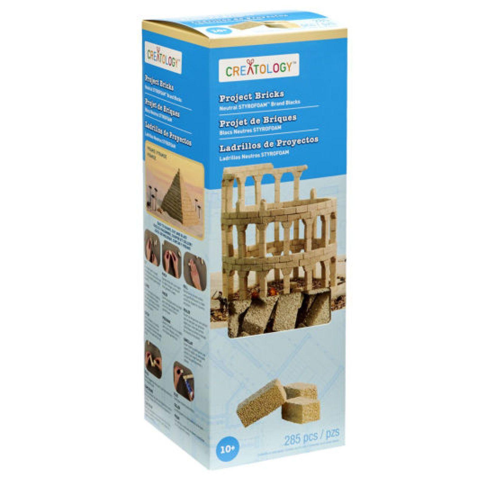 Creatology™ Foam Project Brick Set, Neutral