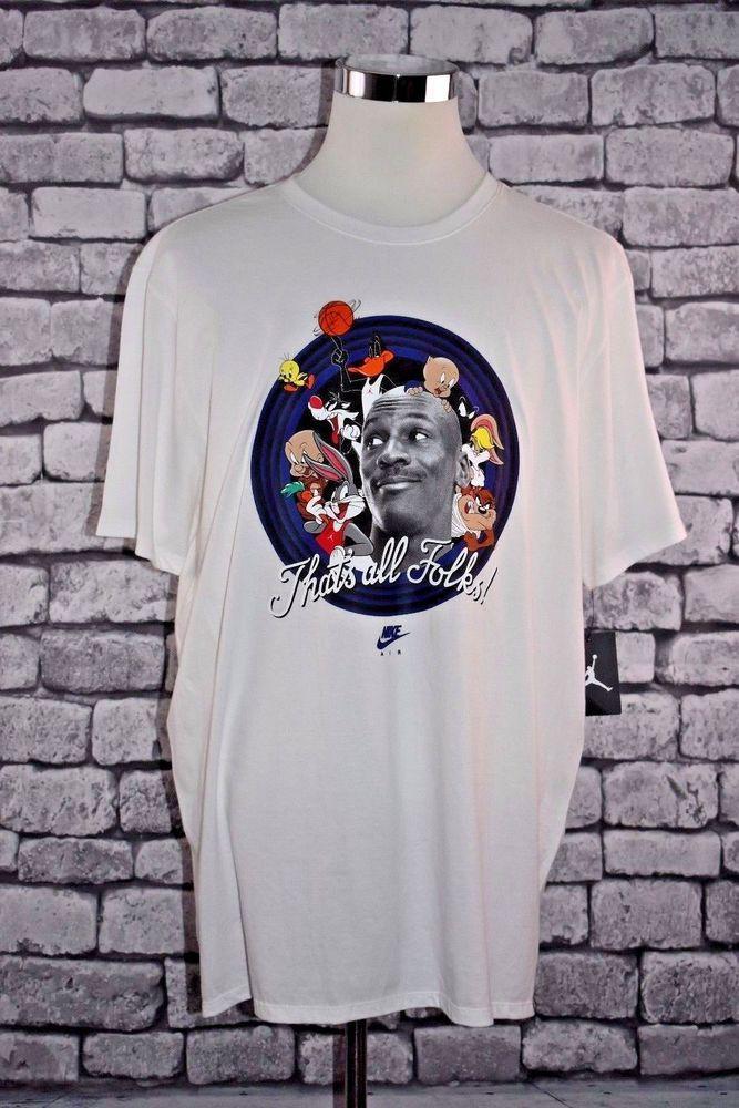 5946af3f5b3d1 Details about Looney Tunes Men's Space Jam Mens T-Shirt Air Jordan ...