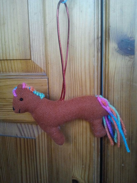 Sweet little Hand made Horse/Pony hanging by CraftyBunnyDog, £2.49