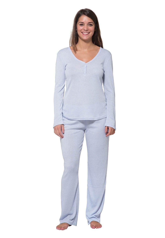 3cd041b627 Luxury Sleepwear Sleeve Loungewear - Denim Light Wash - CF1833REILA ...