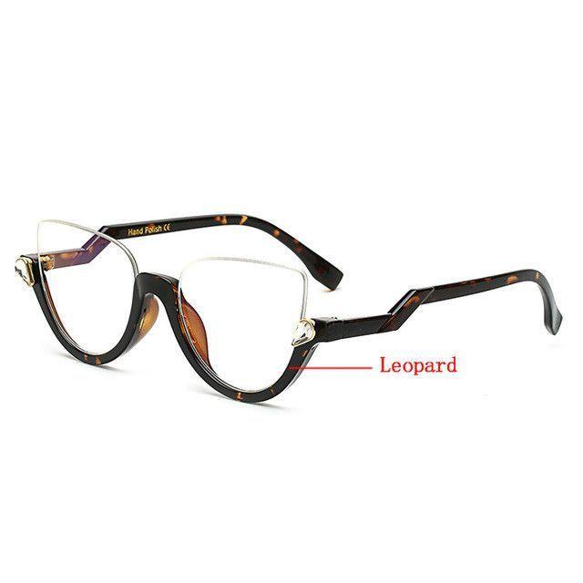 Fashion Women Clear Len Glasses Frames Famous Brand Designer Half ...