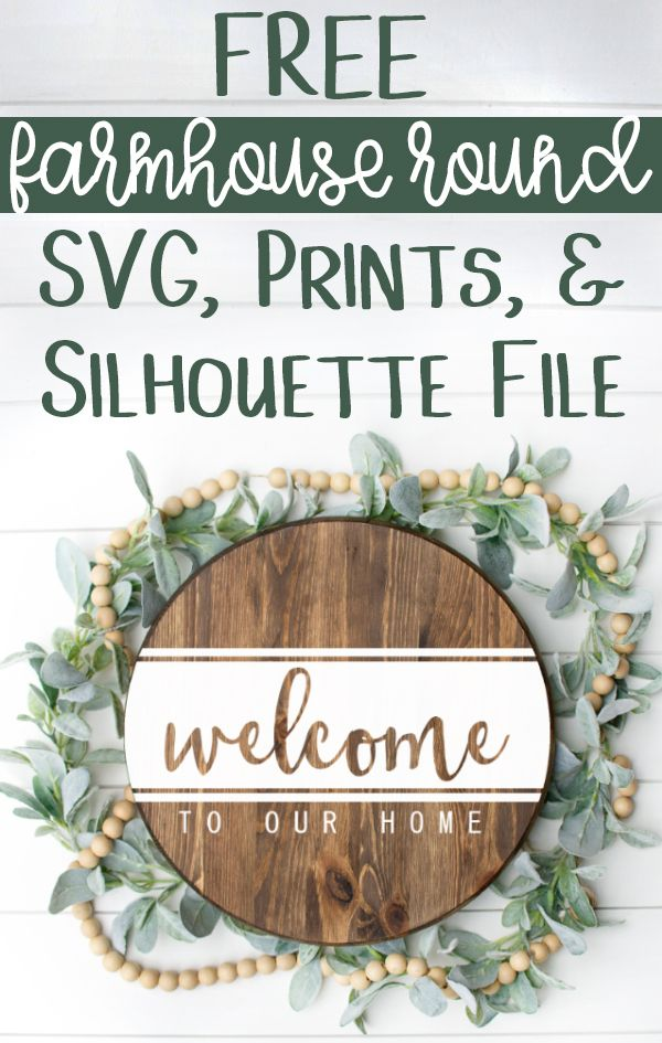 Welcome to Our Home SVG, Silhouette File, & Print - Perfect for Rounds