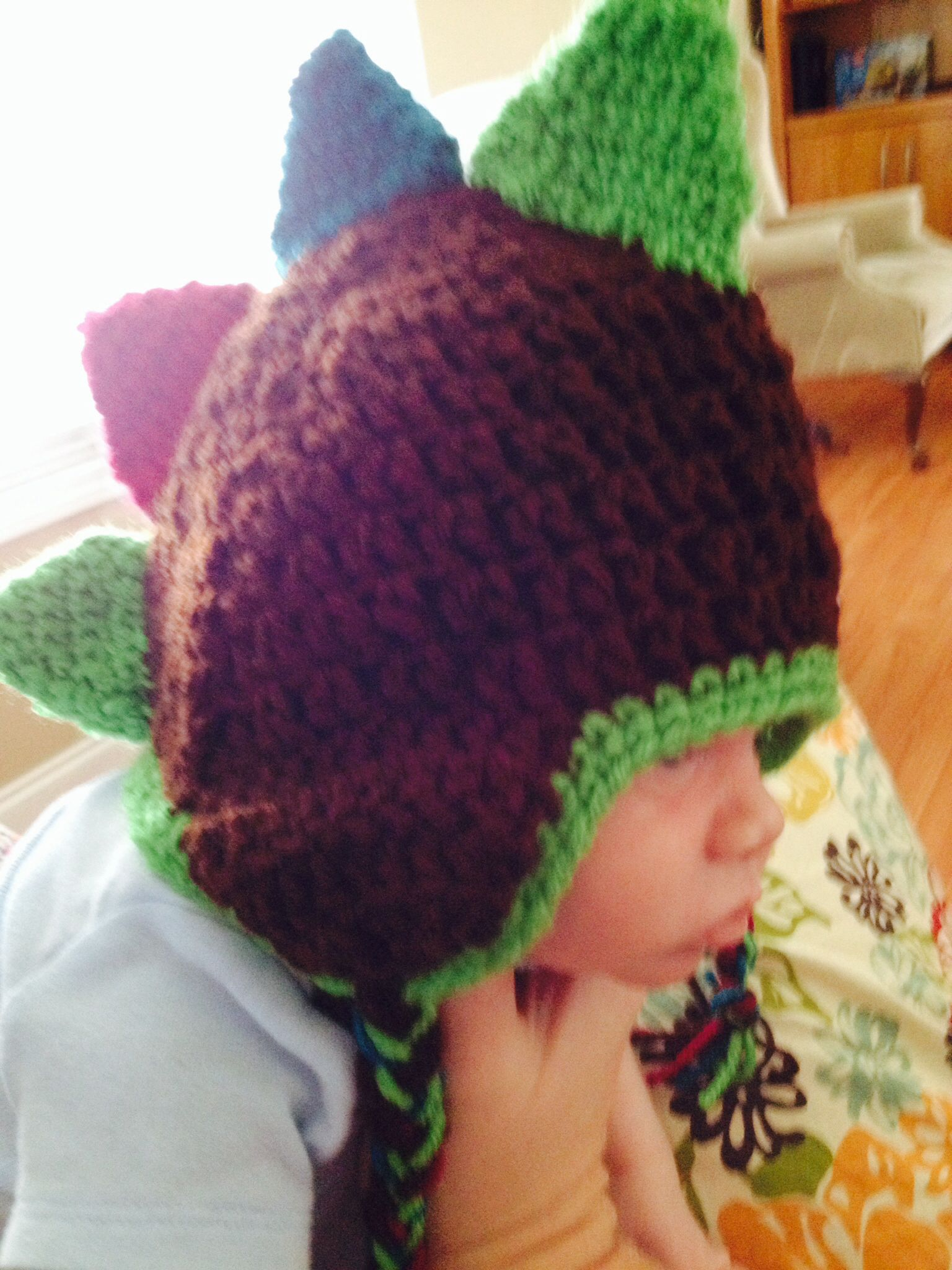 Crocheted dinosaur hat my finished crochet projects pinterest