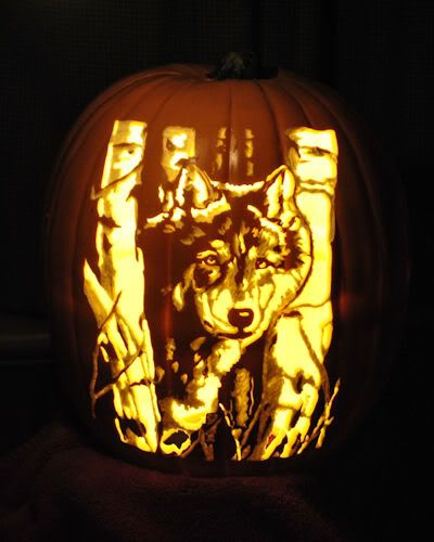 Wolf pumpkin carving pattern on stoneykins … pinteres…