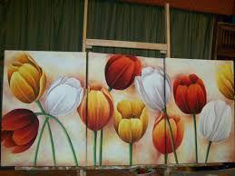 Resultado de imagen para oleos tulipanes