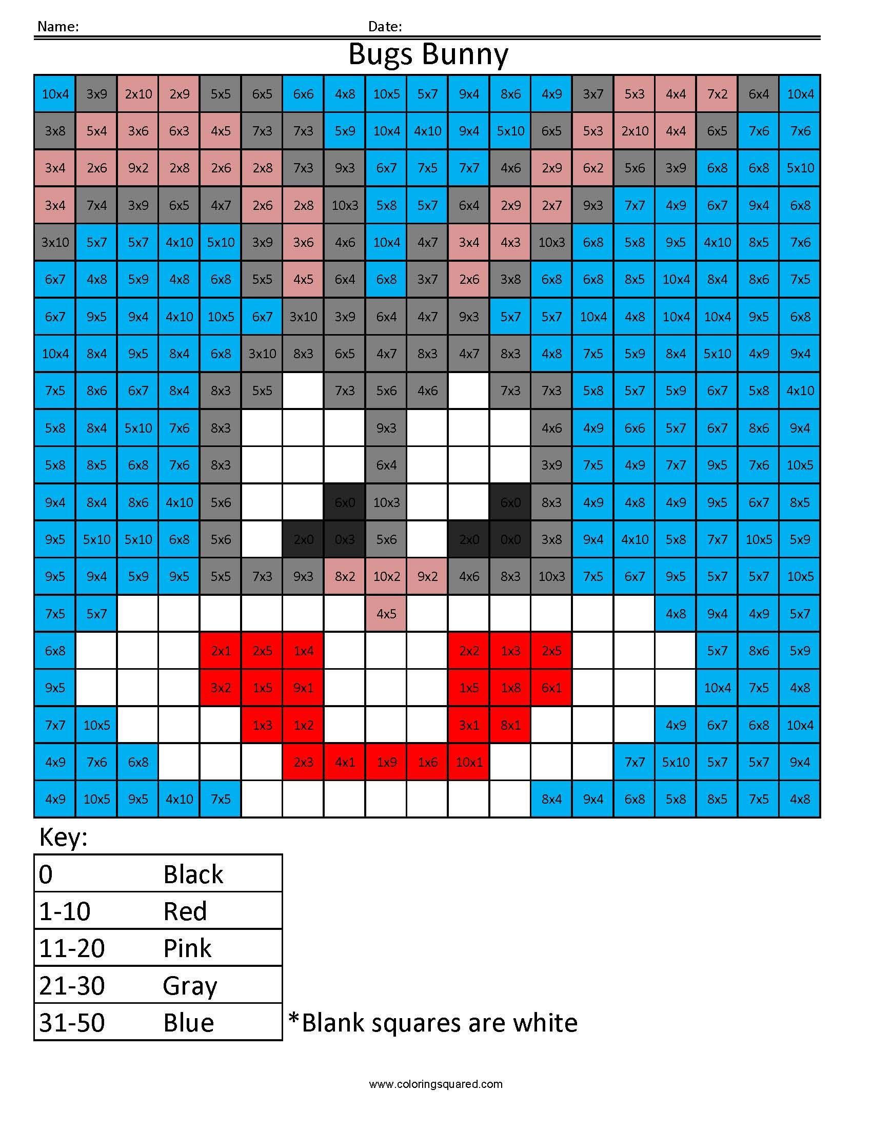 Cartoon Multiplication And Division Math