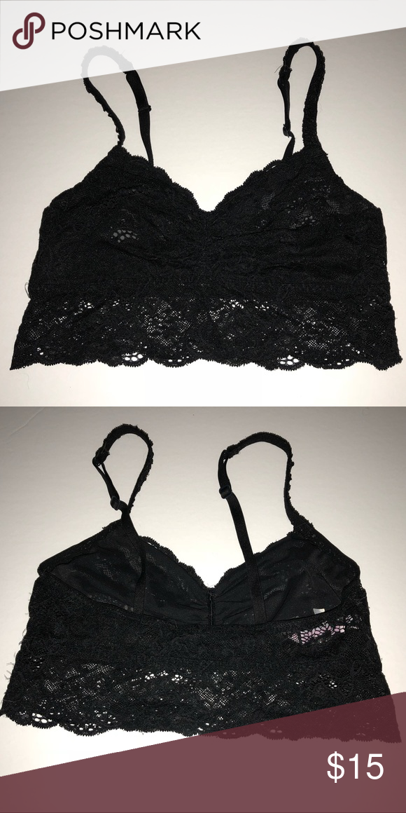 155941a185f9b PINK VS size small black lace bralette Beautiful lace PINK bralette. It is  a size small and has normal wash wear wearing in good used condition.