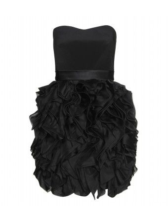 part of me dreams of a black and white wedding, for which case this would be a gorgeous bridesmaid dress