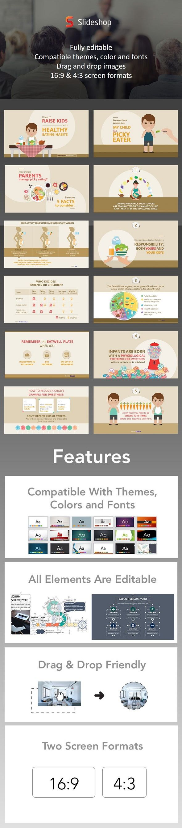 Nutrition pinterest presentation templates presentation format it comes with 15 easily customizable slides presentation format in pptx users will receive two presentation file sizes 43 and 169 upon download toneelgroepblik Image collections