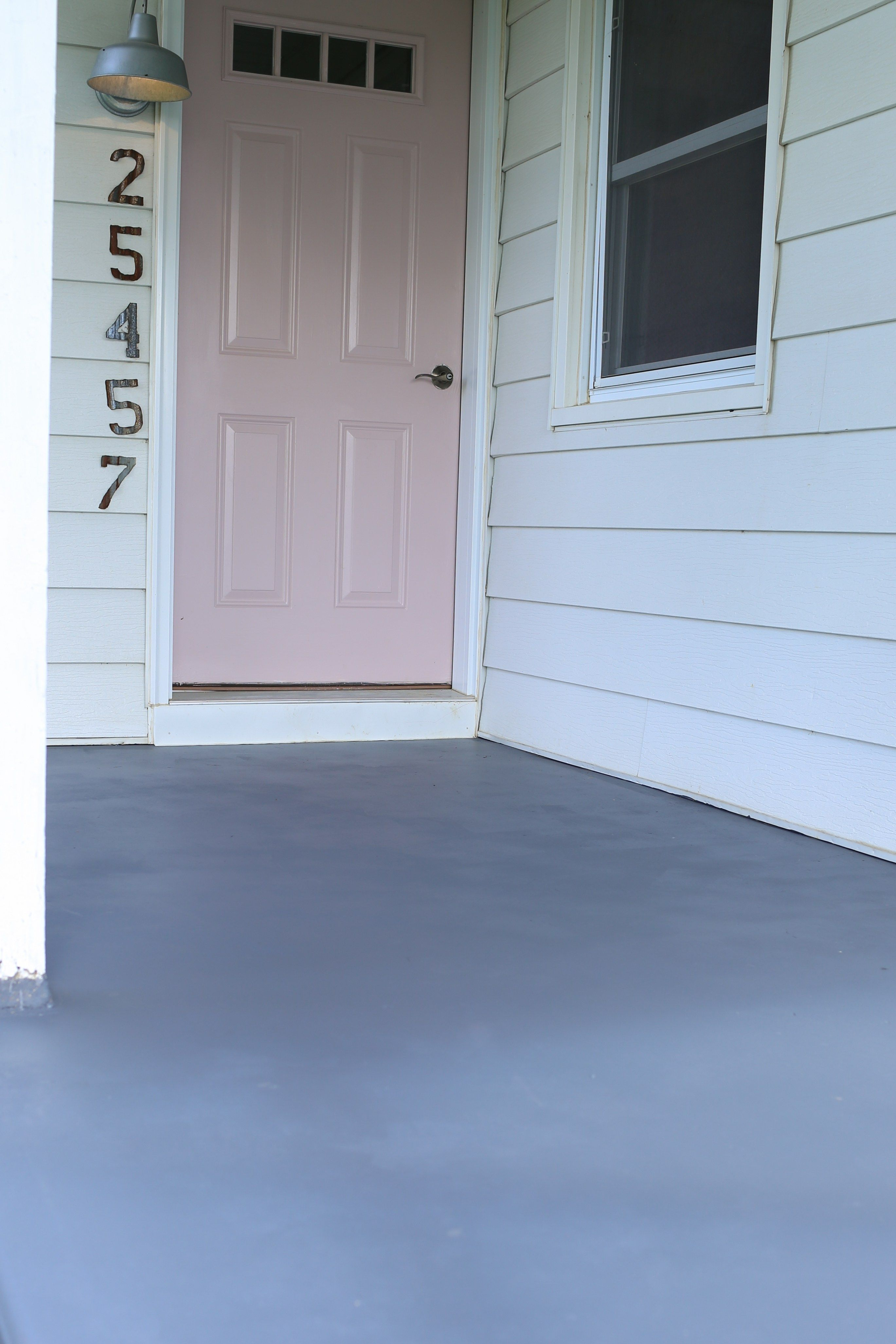 3 Steps To Painting Cement Floors The Logbook Painted Cement