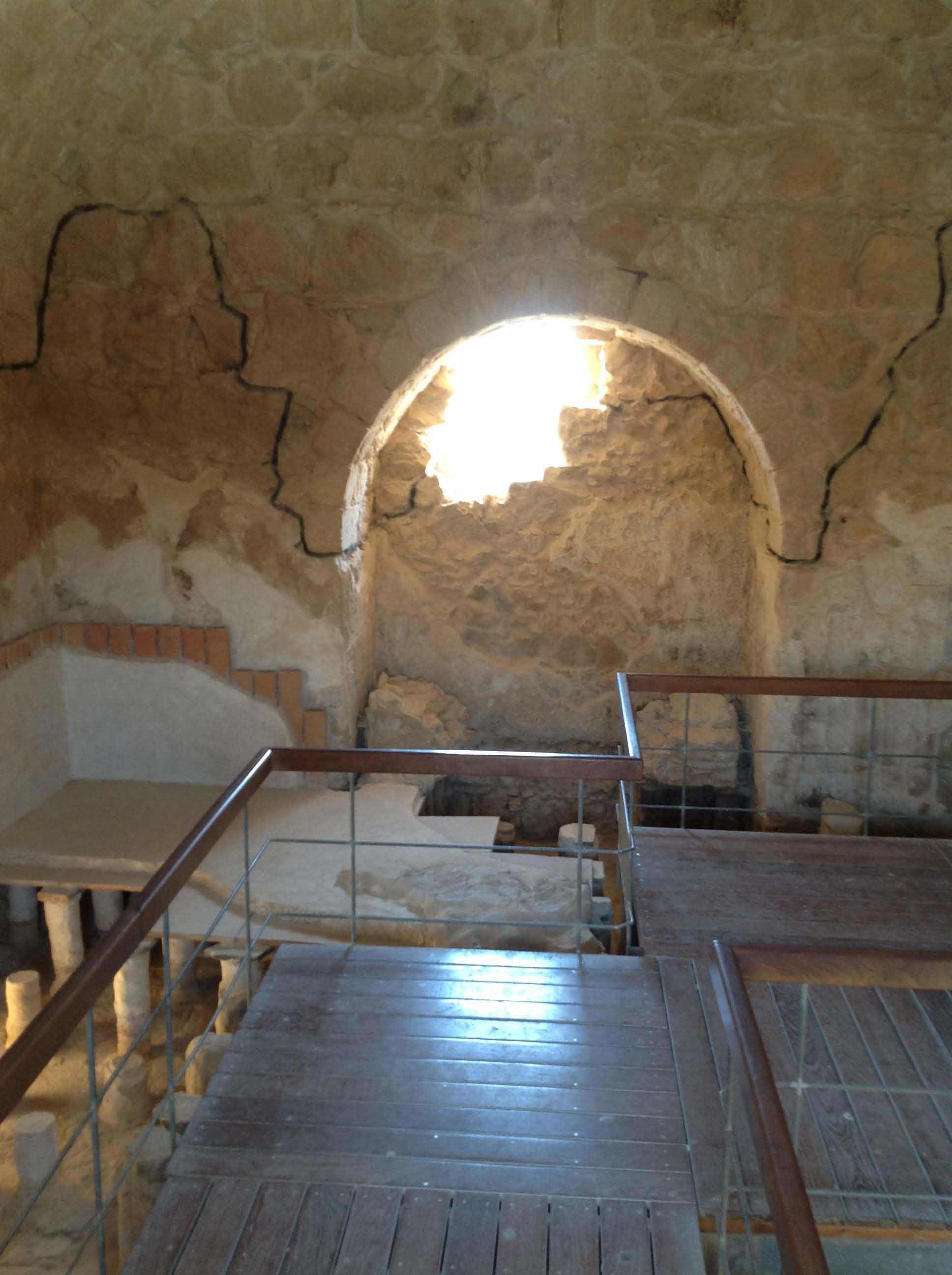 MASADA, ISRAEL - Inside of the Bathhouse of Masada