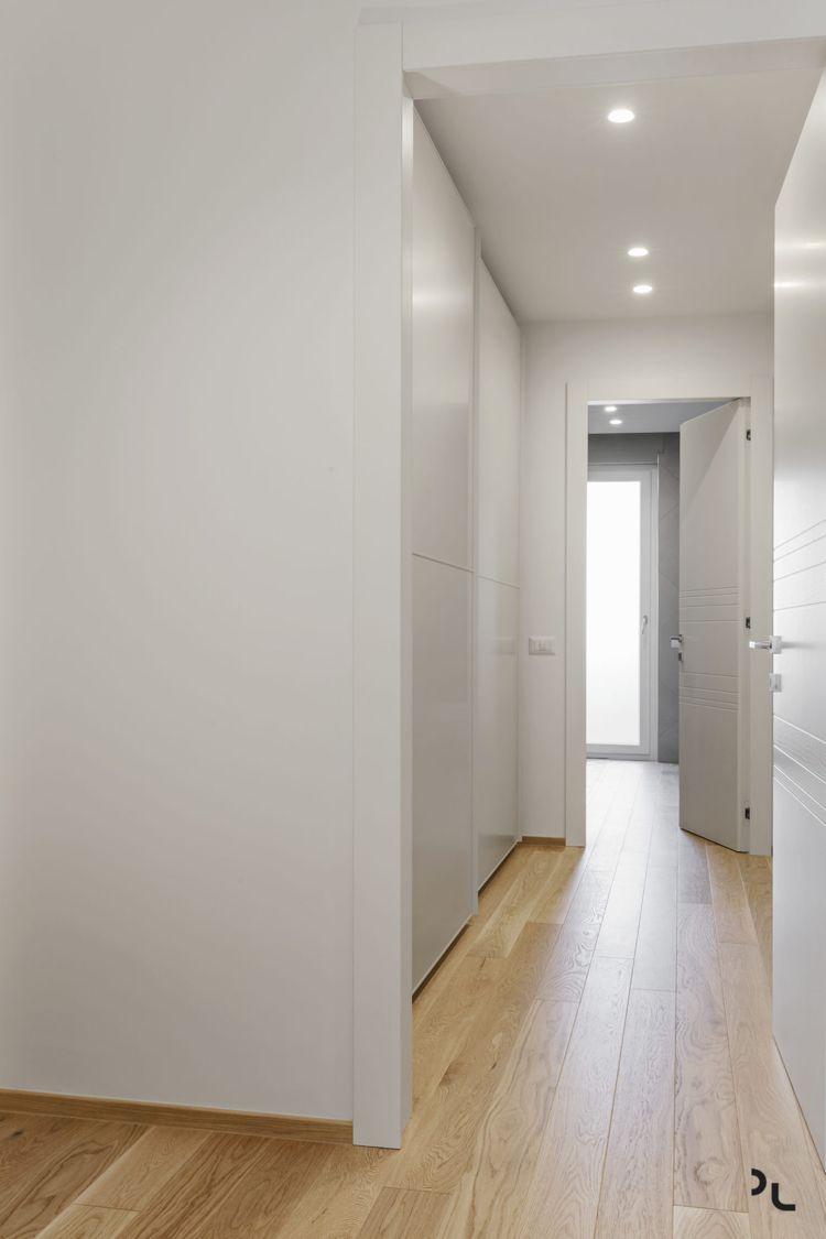 holz modern holzboden minimalistisch flur weiss #bodenbeläge ...