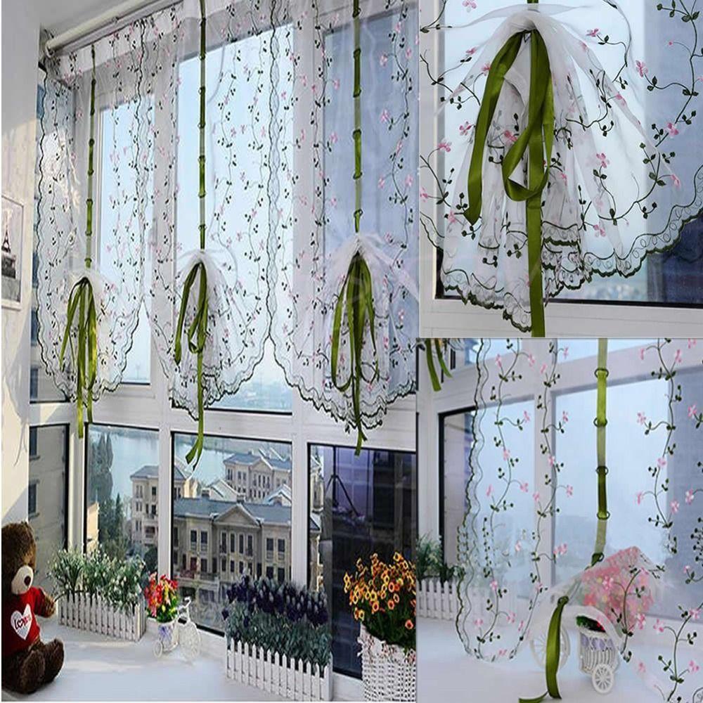 Estores con tela de visillos cortinas pinterest - Como hacer cortinas para puertas ...