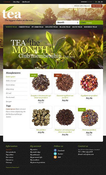Tea Island Prestashop Theme 43484 Tea Store Prestashop Themes Tea Website