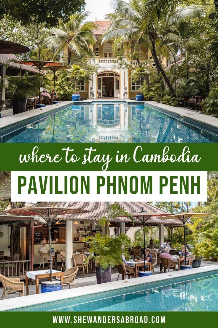 Pavilion Phnom Penh is a true oasis in the middle of the city. If you're wondering where to stay in Phnom Penh, here's my complete review about the hotel! #cambodia #phnompenh #shewandersabroad   Where to stay in Cambodia   Cambodia Travel Tips   Asia Travel Tips   Best hotels in Cambodia   Best hotels in Phnom Penh