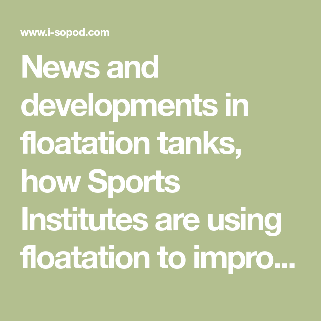 Float Tanks Helps Heal The SEALs