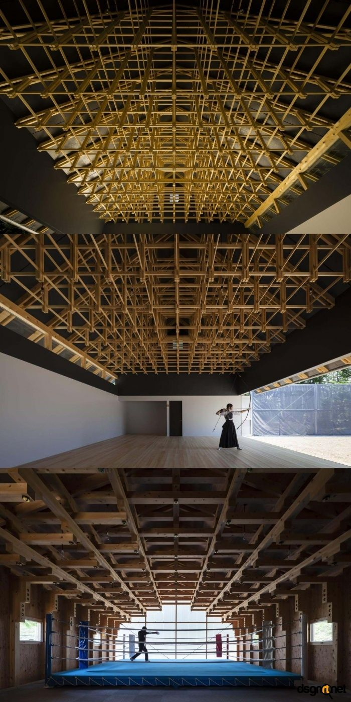 Archery hall and boxing club tokyo by ft architects for Japanische architektur holz