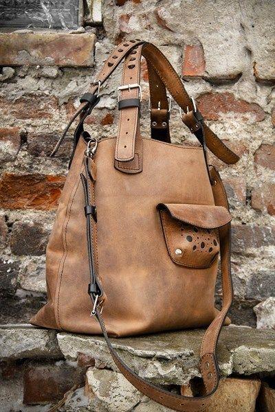 Torebka Torba Skorzana Orginalna Z Dlugim Paskiem Leather Tote Bag Leather Purses Leather