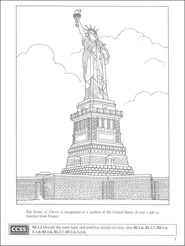 Statue Of Liberty And Ellis Island Coloring Book Boost Series